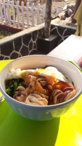 Mie Rebulah Cumi- Boiled Noodles with egg, vegetables and squid
