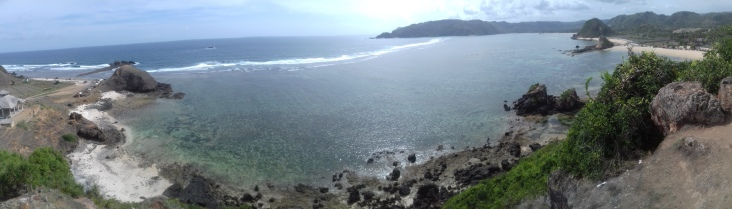 The seas surrounding Kuta beach