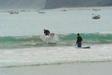 Thomas surfing!