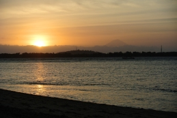 Sunset at Gili Air, that's Mt Agung in the background