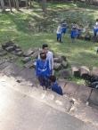 Wedding photoshoot underway at Baphuon temple