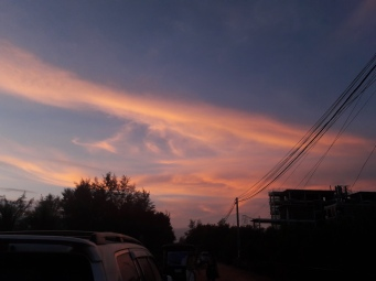 Pink skies, no filter needed