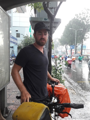 Arrival in HCMC- welcome by pouring rain!