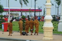 Monks near the Royal Palace