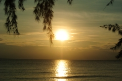 Otres at sunset