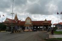 Cambodia side of the Cambodia Vietnam border near Prek Chap