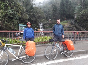 Probably the only picture of both of us with the bicycles!