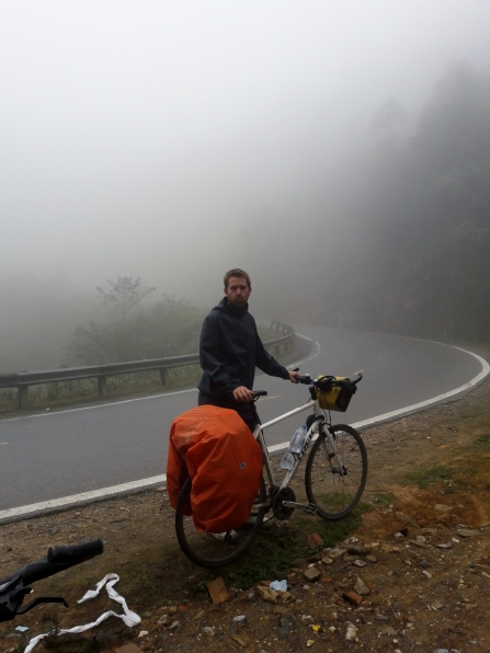 Just before reaching Mt Phan Xi Pan- it was cold!!