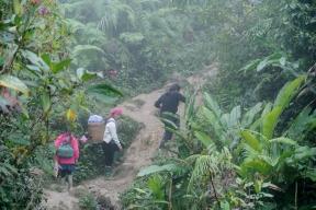 Trekking in Ta Van- braving the mud and the rain!